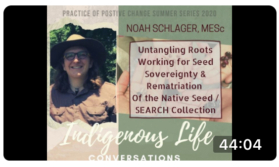 Screen shot of video for Practice of Positive Change: An Indigenous Approach with Noah Schlager; click to follow link and watch video