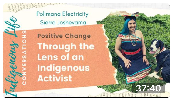 Screen shot of video for Practice of Positive Change: An Indigenous Approach with Polimana Joshevama; click to follow link and watch video